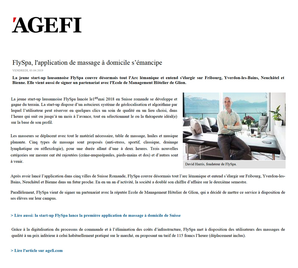 Article Agefi - 5 avril 2019